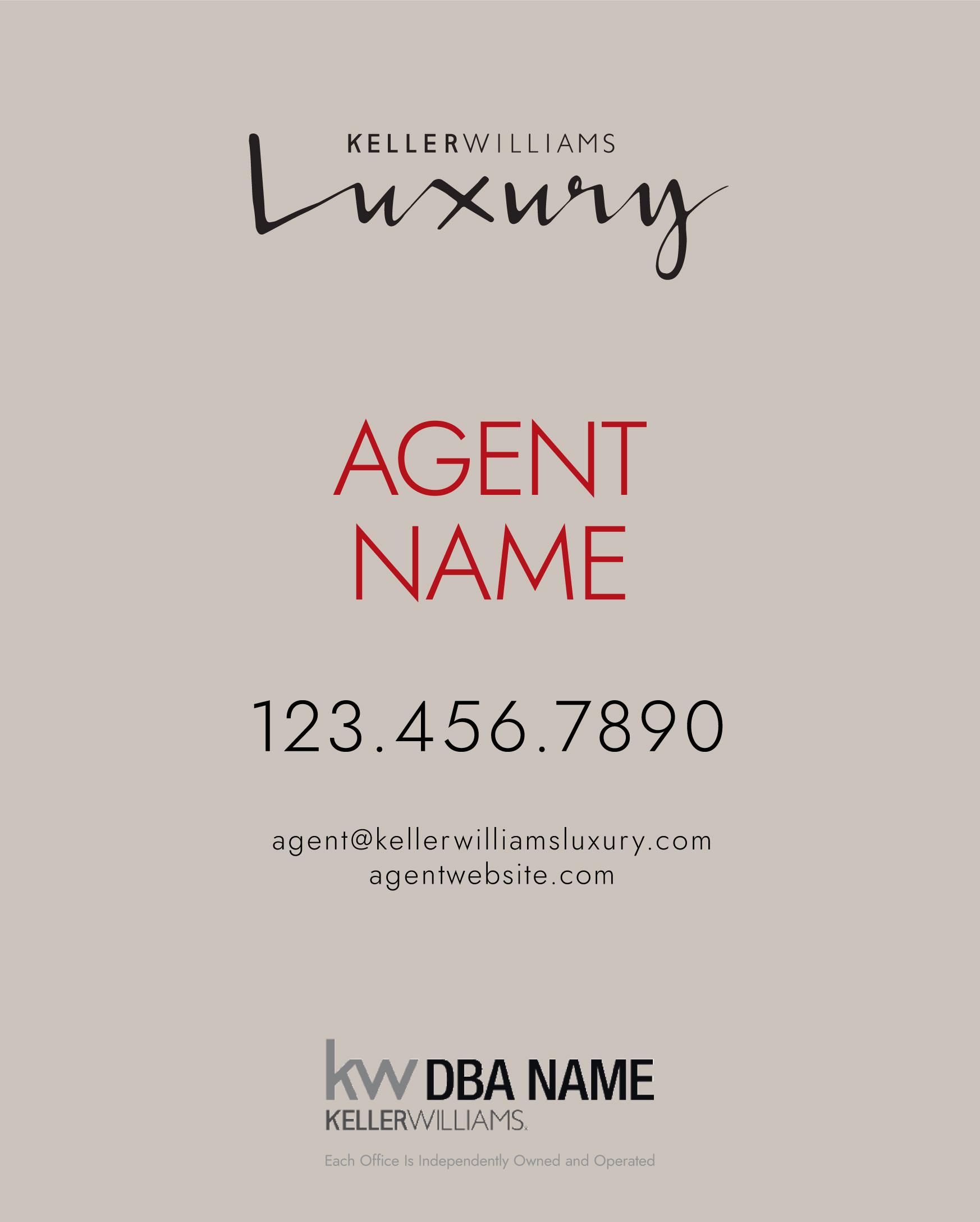 Standard KW Luxury Sign Design